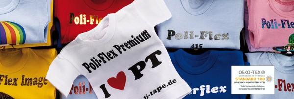 POLI-FLEX® PREMIUM, 0,5m x 25m, 40 Farben